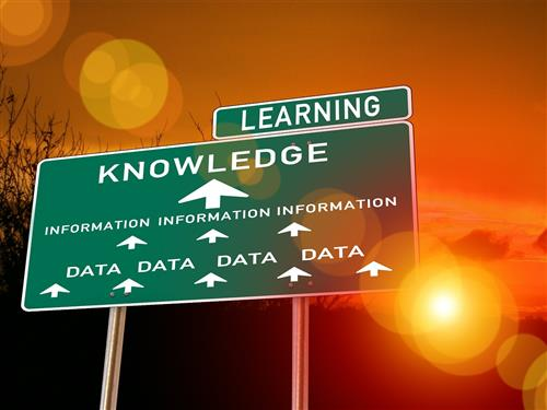 Sign reading learning, knowledge, information and data