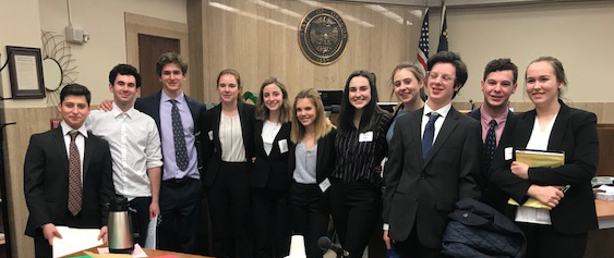 Riverdale's Blue Team at Mock Trial competition