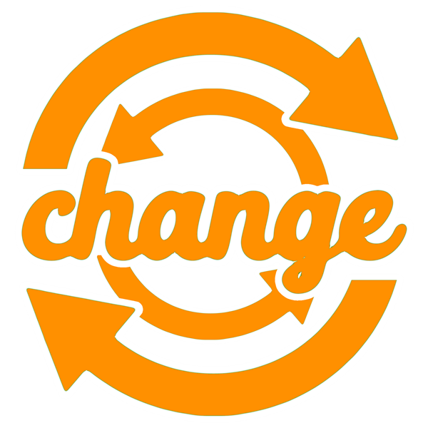 the word change with arrows around it