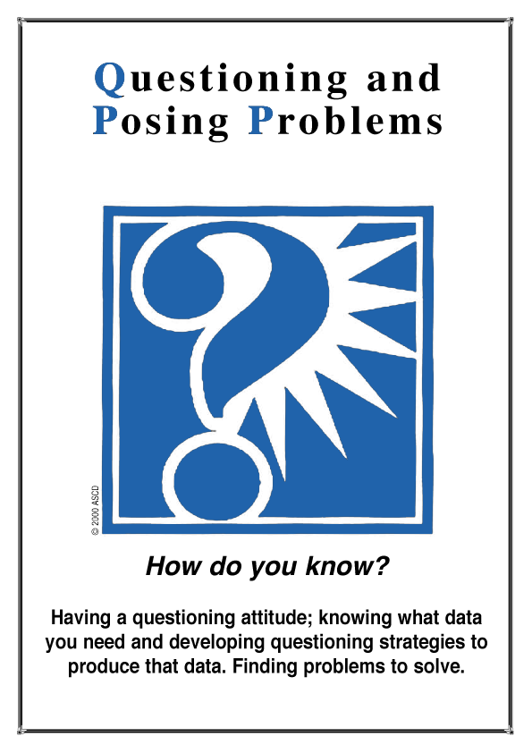 illustration of the habit of mind questioning and posing problems