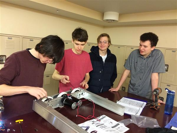 high school students build robot for competition