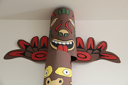 top part of totem pole made in art class