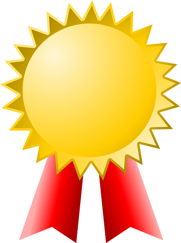 gold ribbon prize