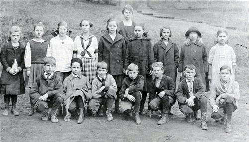 Palatine Hill School students, circa 1891